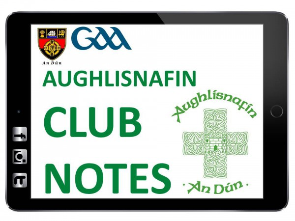 Aughlisnafin club notes - 06 January 2017