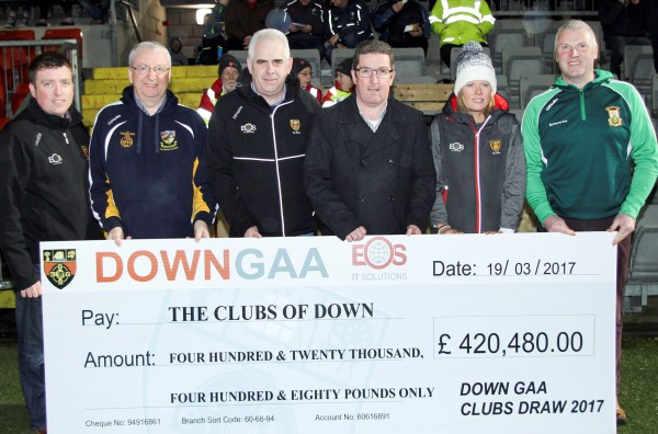 OVER FOUR HUNDRED THOUSAND RAISED FOR THE CLUBS OF DOWN