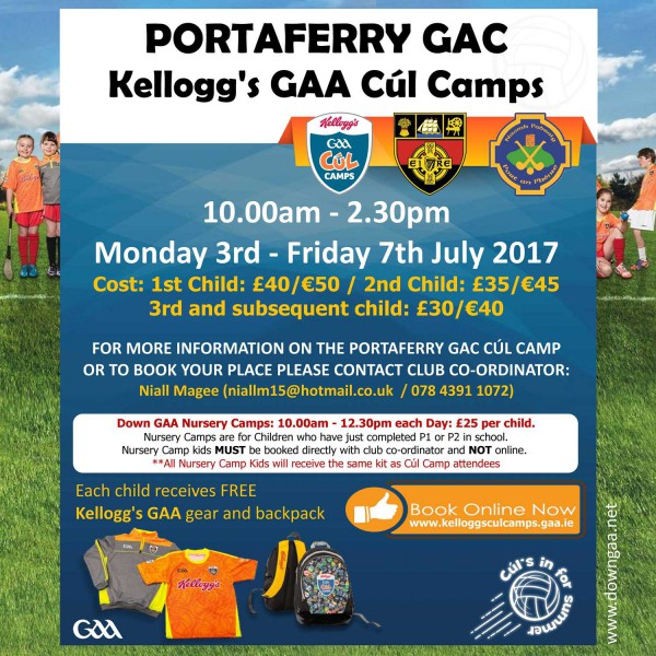 St Patricks GAC Portaferry club notes - 12 June 2017