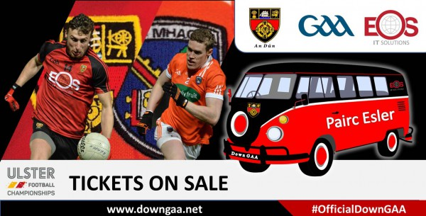 Down Armagh Match - Opening Times for Ticket Sales
