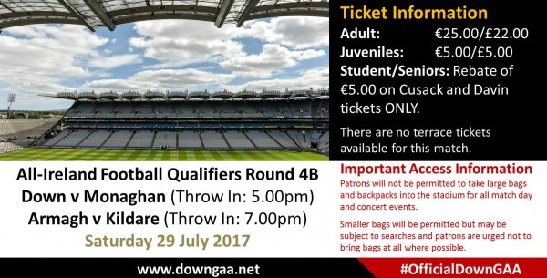 Group Tickets: Down v Monaghan