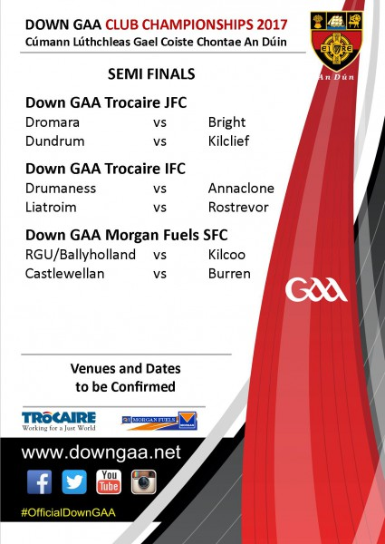 Down GAA Club Football Championship semi final draws