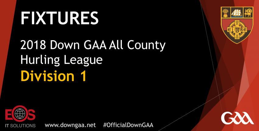 2018 Down GAA ACHL Fixtures Division 1 and 2