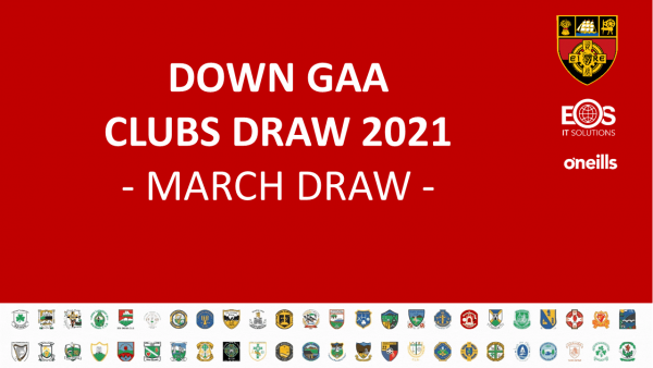 Clubs Draw 2021 - March Winners