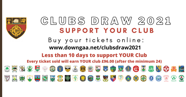 Less than 10 days to buy your Clubs Draw Ticket